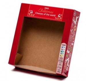 Six fold infold glued box with window patch