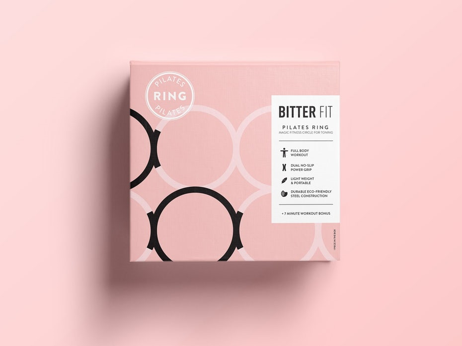 carton with pastel shades