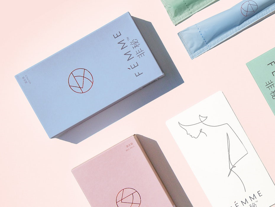cartons with a simple pastel design
