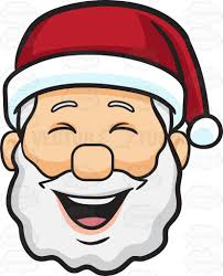 Laughing Santa head