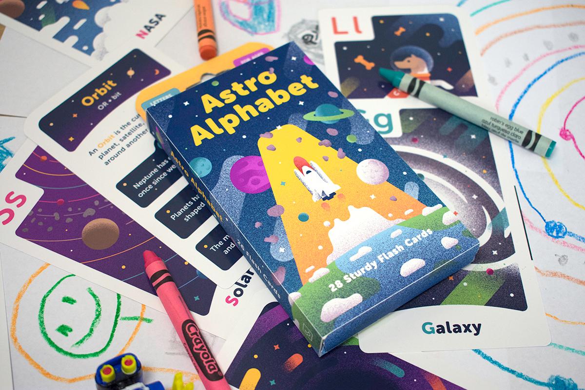 Astro Alphabet game carton