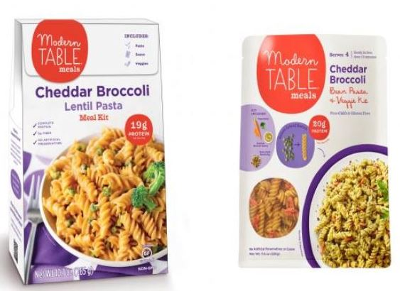 Modern Meals Packaging old and new