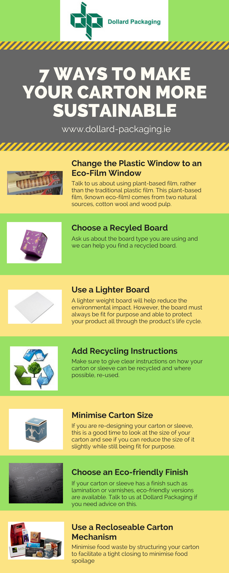 Sustainable cartons infographic