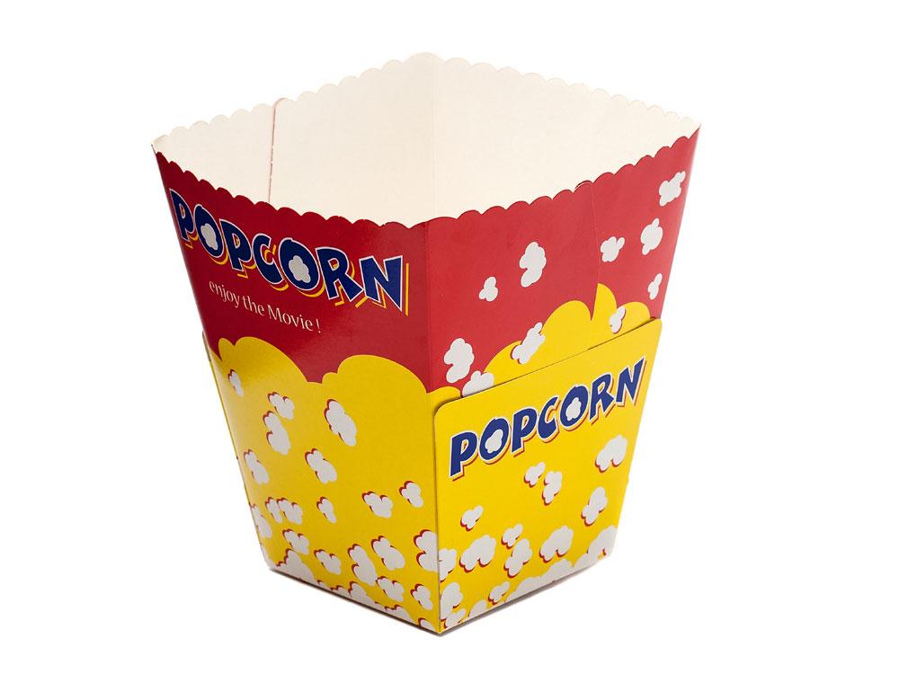 Pre-erected Popcorn container