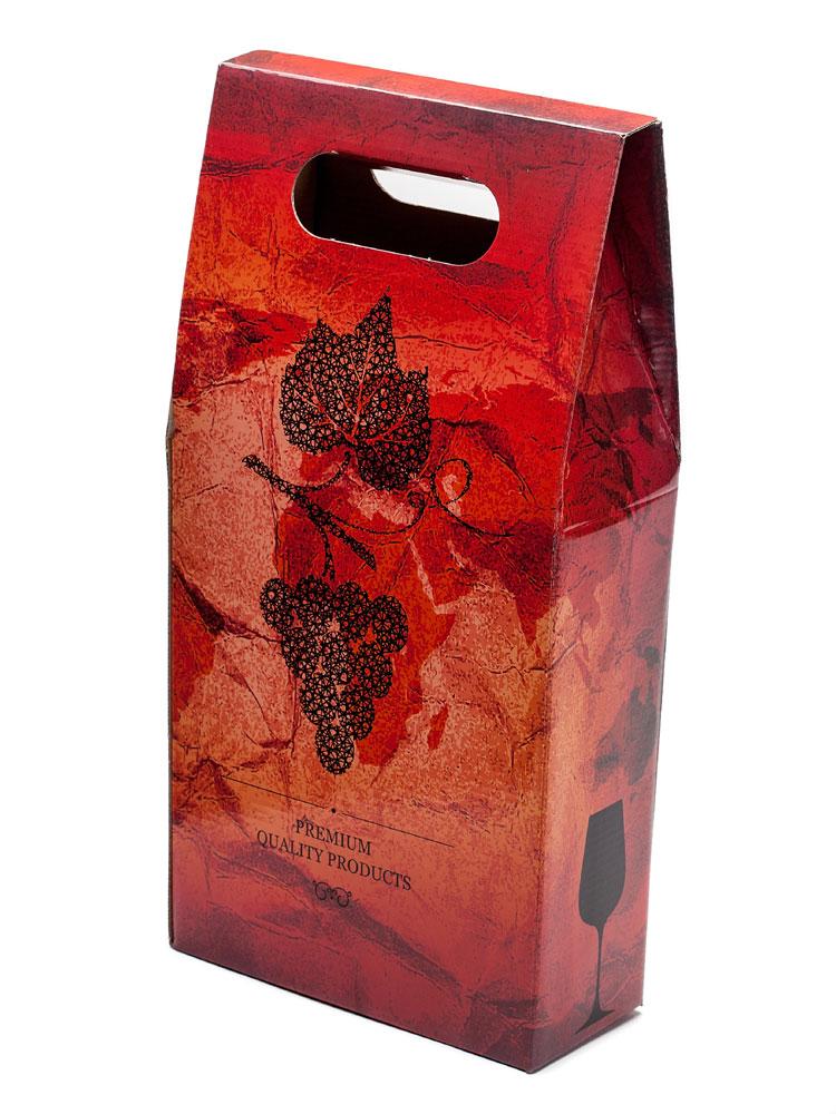 2-bottle litho laminated wine box