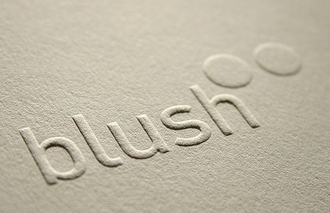 embossing example close up