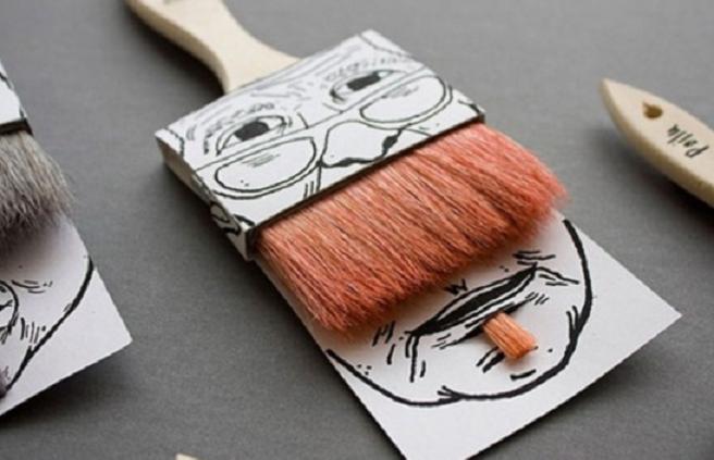 Paintbrush sleeve - funny design