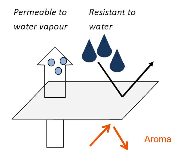 eco film diagram, vapour permeable, water resistant