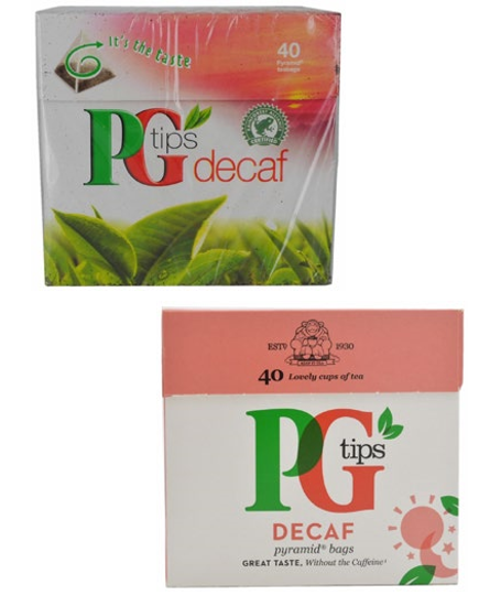 PG Tips packaging design