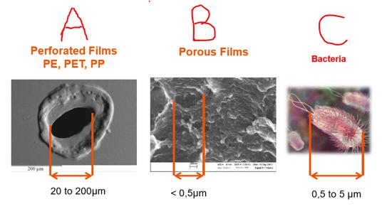 perforated versus porous film