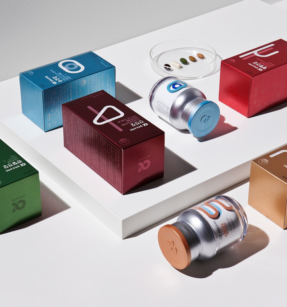cartons with minimalist design