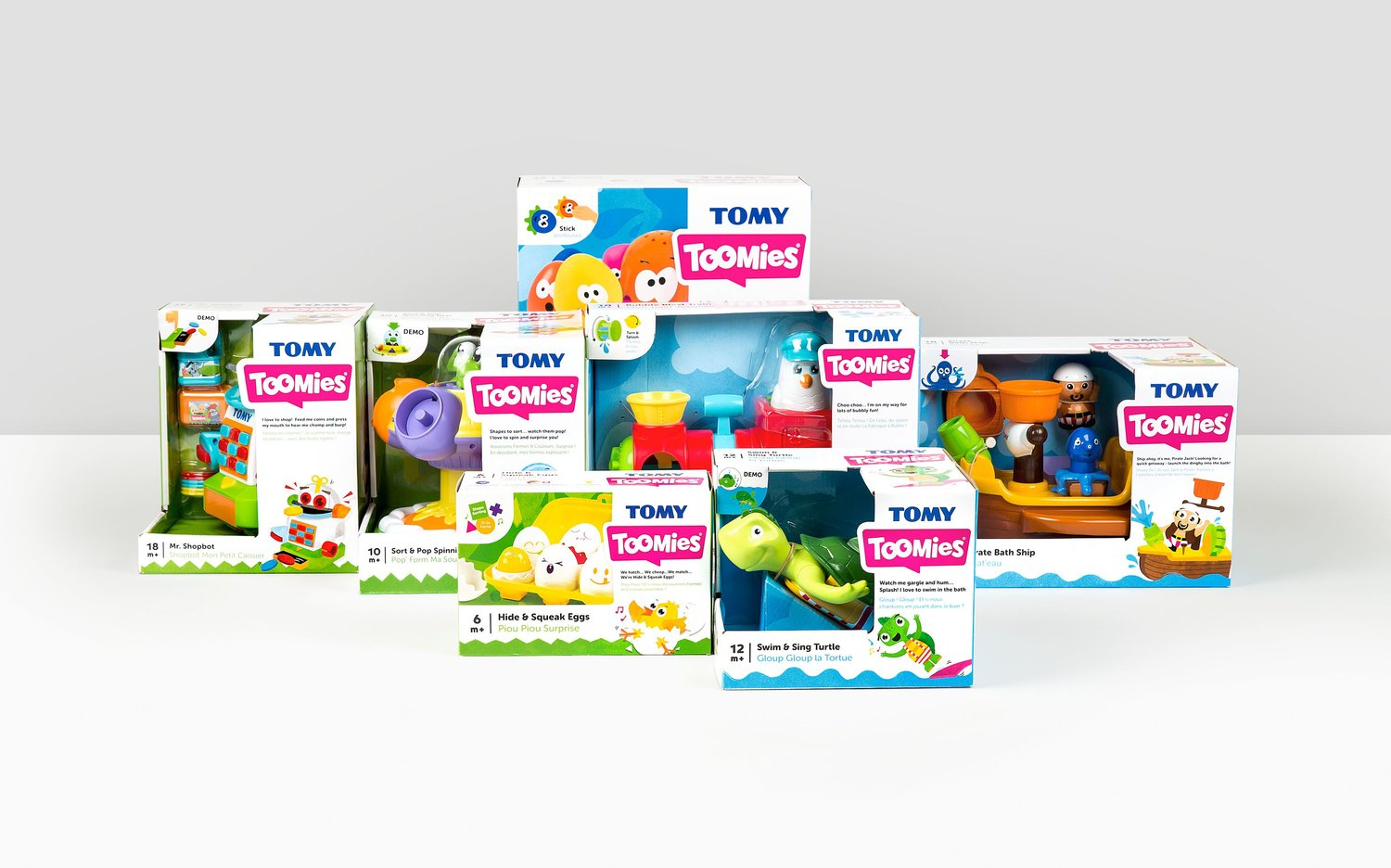 Tomy games new window cartons