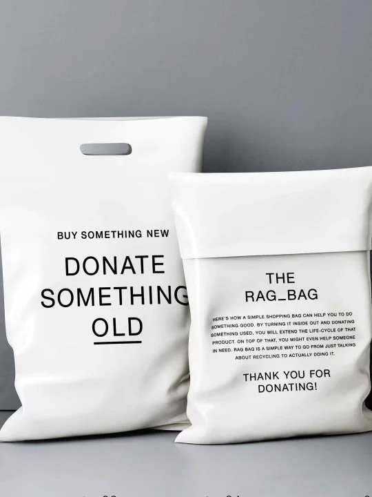 bags with big words in the design