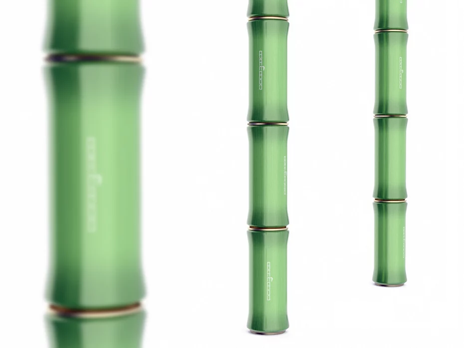 juice carton in unusual bamboo style shape