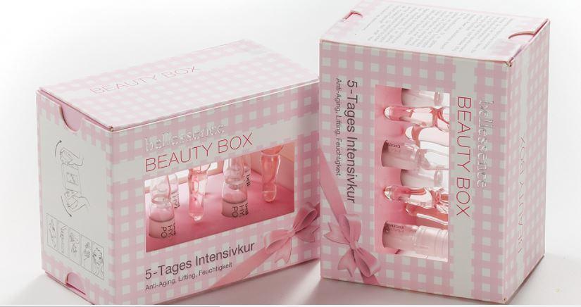 pink skincare carton