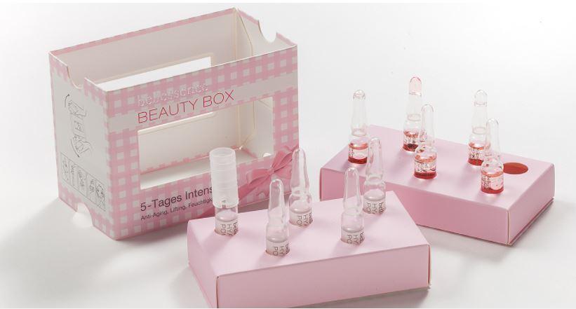 beauty treatment carton