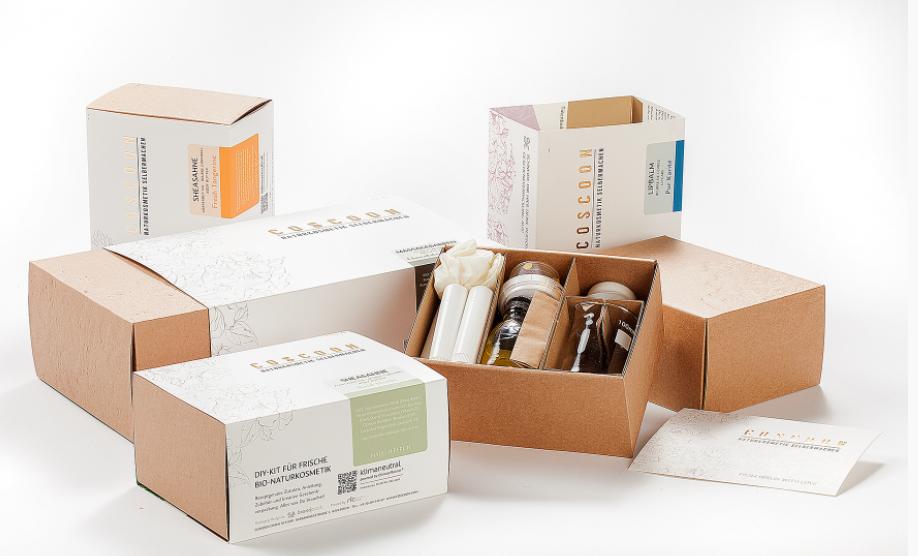 Coscoon Cosmetics cartons