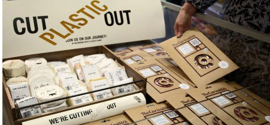 plastic-free retail aisle