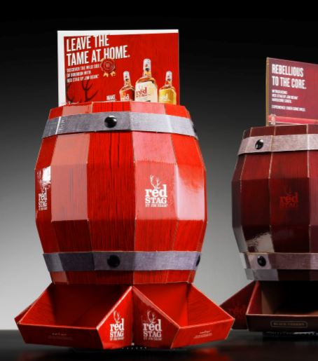 point of sale bourbon packaging