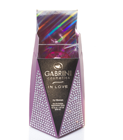 perfume packaging with decorative finish