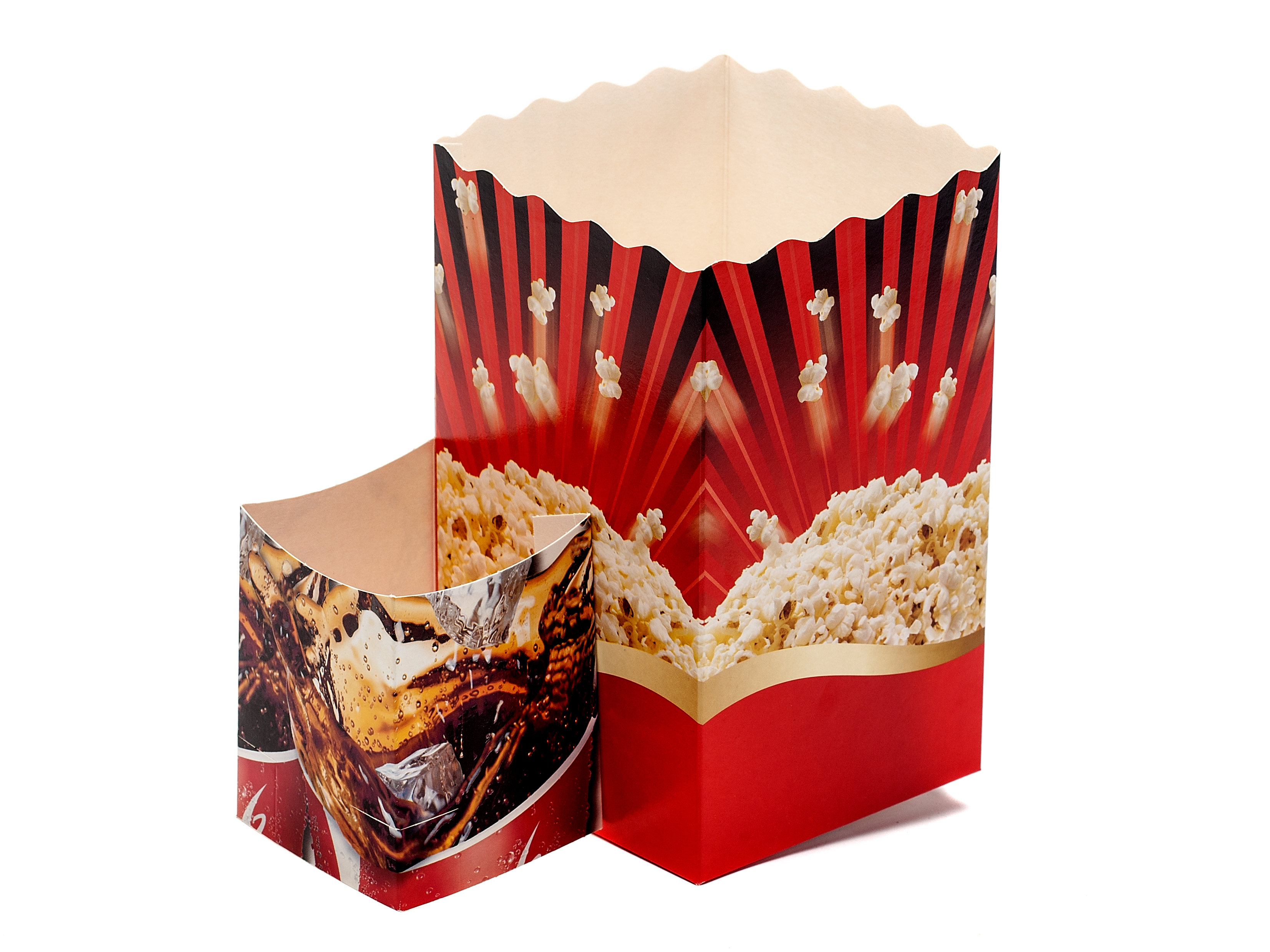 popcorn and drink carton in one piece