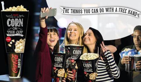 coca cola popcorn and drink carton in one