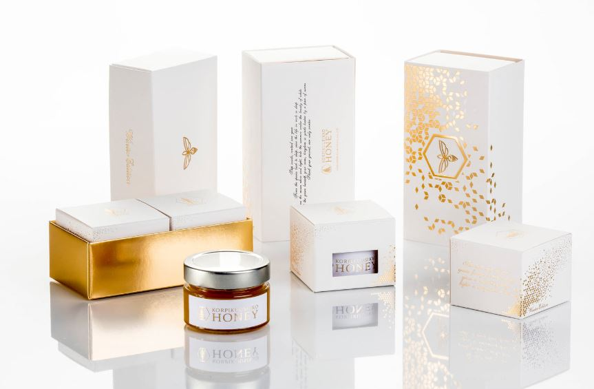 artisan honey gift packaging set