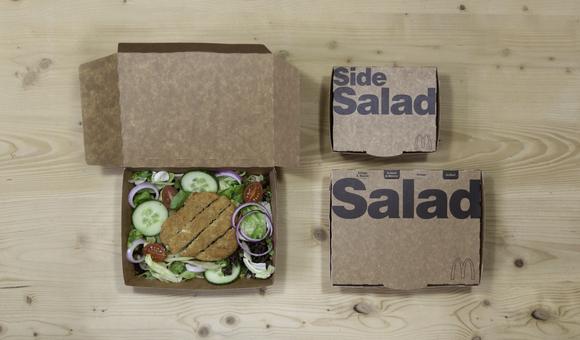 McDonalds plastic -free Salad carton